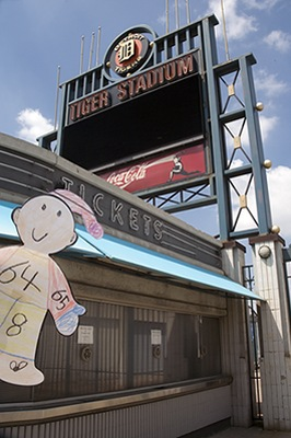 Flat Stanley at Tiger Stadium in Detroit, MI