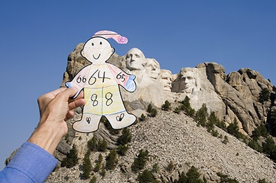 Flat Stanley Visits with the Presidents at Mount Rushmore, SD