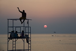 Waving Goodbye to the Sun in Grand Bend, Ontario