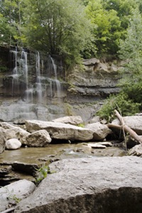 A View of The Falls at Rock Glen Conservation Area