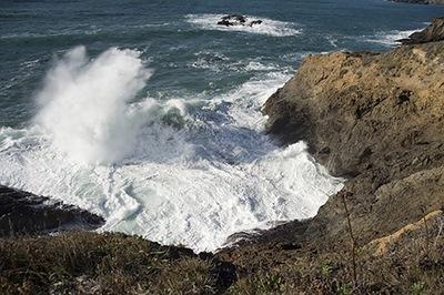 Sea Spray Off the Mendocino Coastline