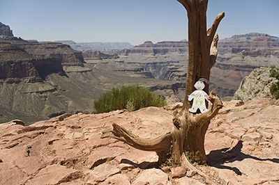 Flat Stanley Climbs Deep Into The Grand Canyon