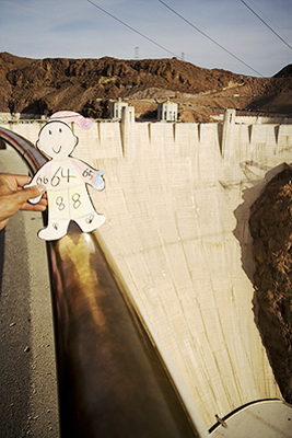 Flat Stanley at Hoover Dam, NV