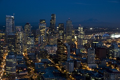 Seattle Cityscape II Night