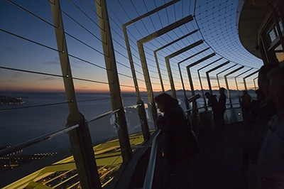 Space Needle Observation Deck at Night
