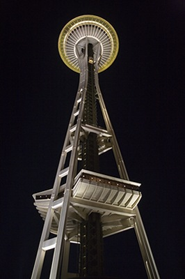 Space Needle Night