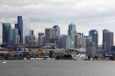 Seattle Cityscape Vertical