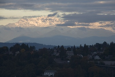 The Olymic Mountains West of Seattle